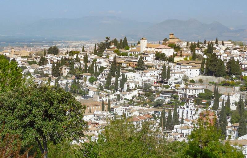 Albayzin seen from the Alhambra in Granada