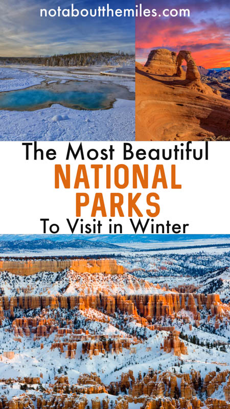 Discover the most beautiful US national parks for a winter vacation, from winter wonderlands like Yellowstone and Yosemite to warm weather parks like Death Valley and Everglades.