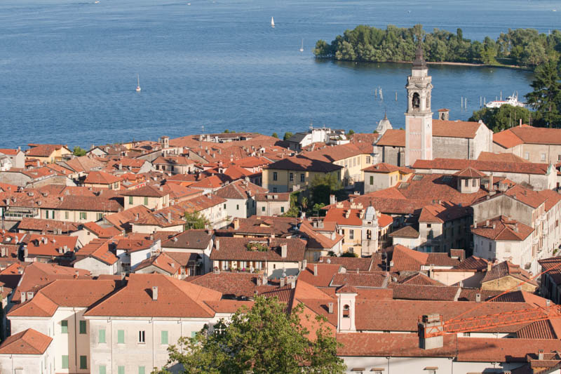 Arona on Lake Maggiore in Italy