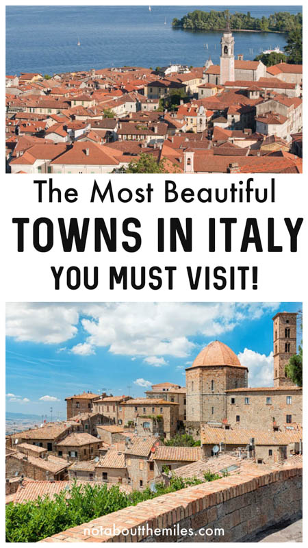 Discover the most beautiful towns in Italy to put on your list for your next trip to Italy!