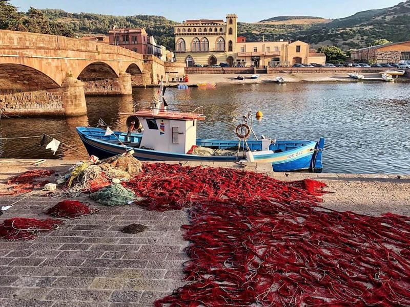 Bosa in Sardinia Italy