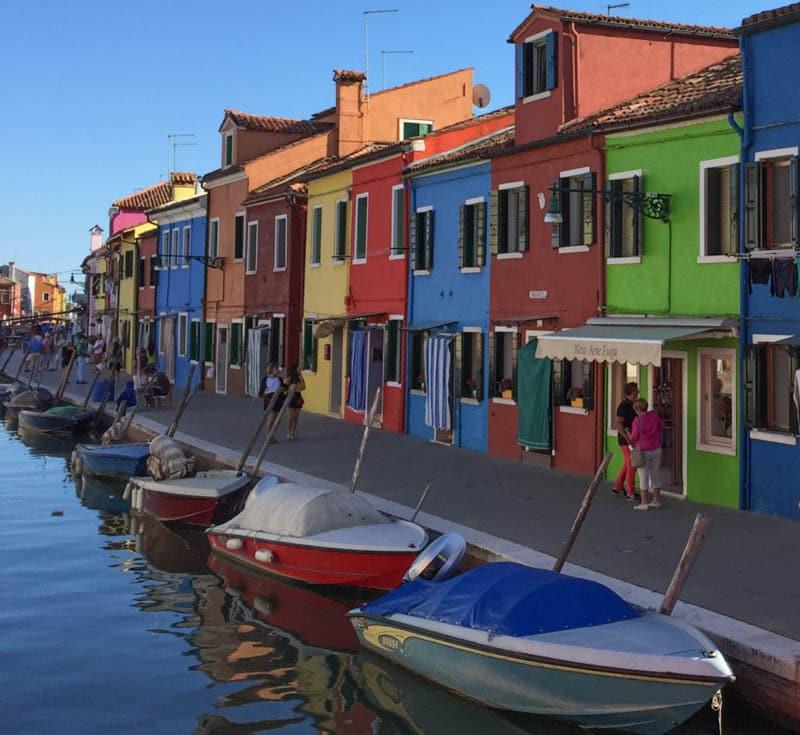 Burano Island near Venice Italy