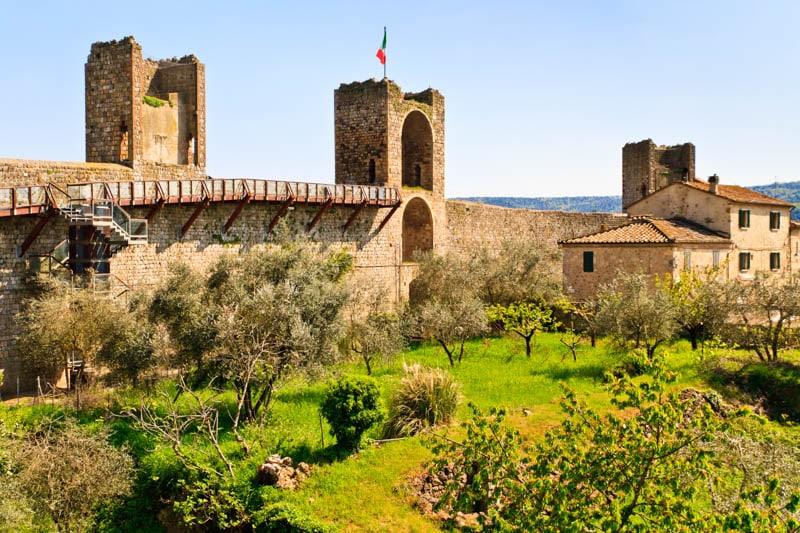 Monteriggioni. Tuscany, Italy