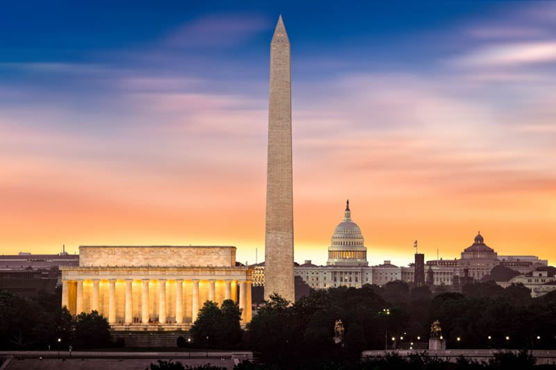 Washington DC makes for one of the best USA weekend trips