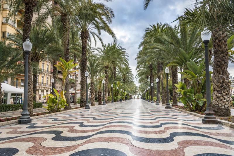 Promenade Explanada Alicante Spain