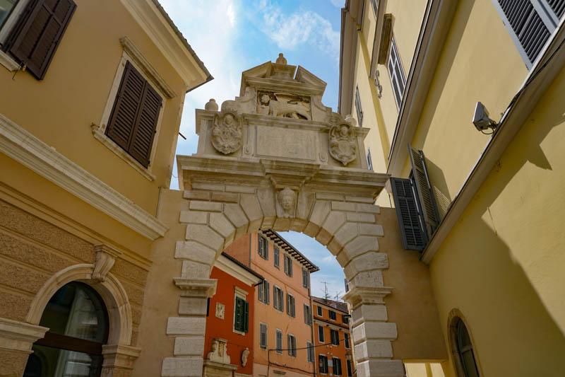 Balbi's Arch in Rovinj Croatia