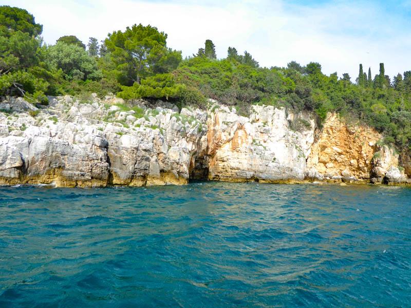 Beautiful landscape on the Rovinj Archipelago in Croatia