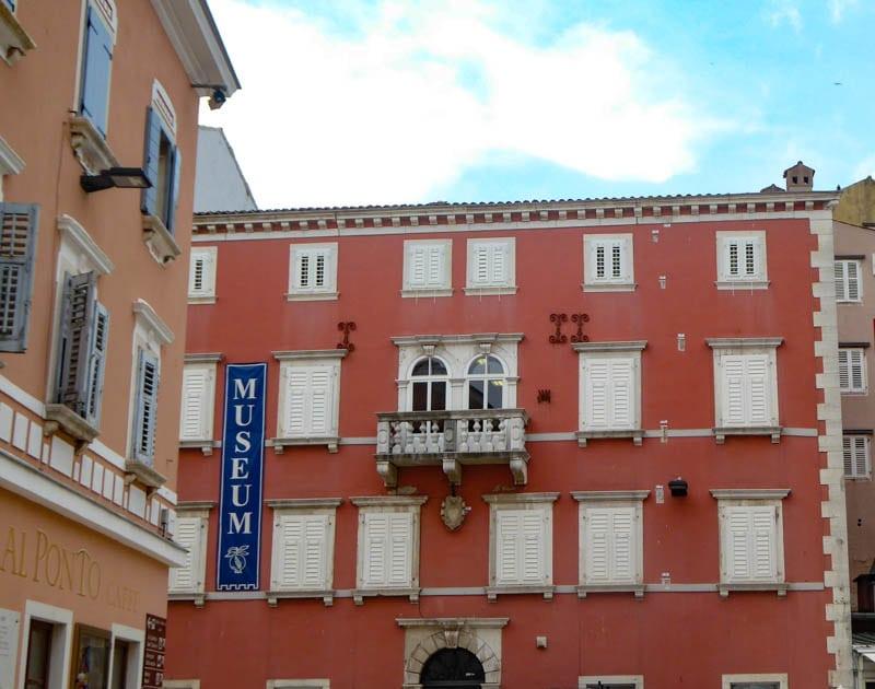 Facade of the Heritage Museum in Rovinj Croatia