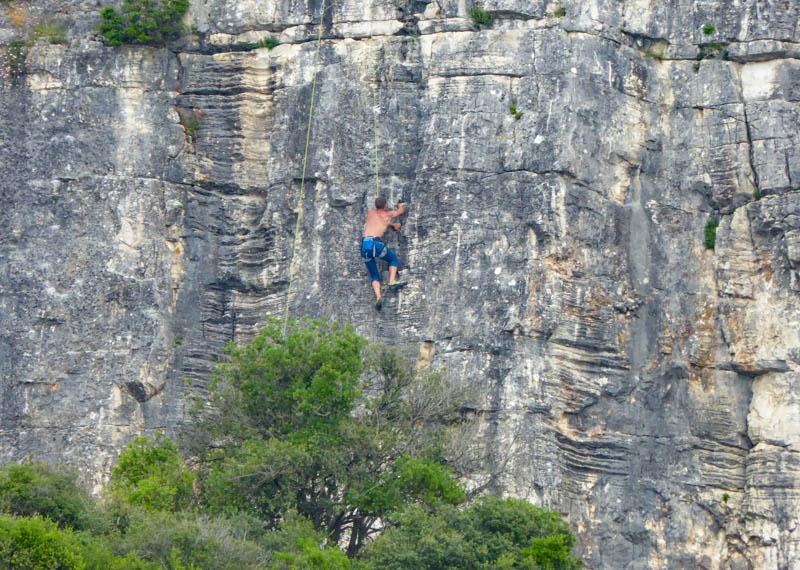 Rock climbing near Rovinj Croatia