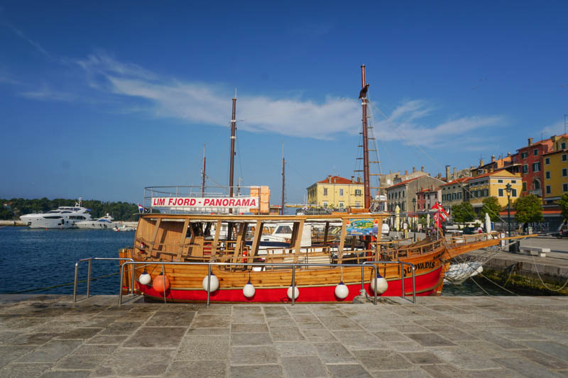 waterfront Promenade in Rovinj Croatia