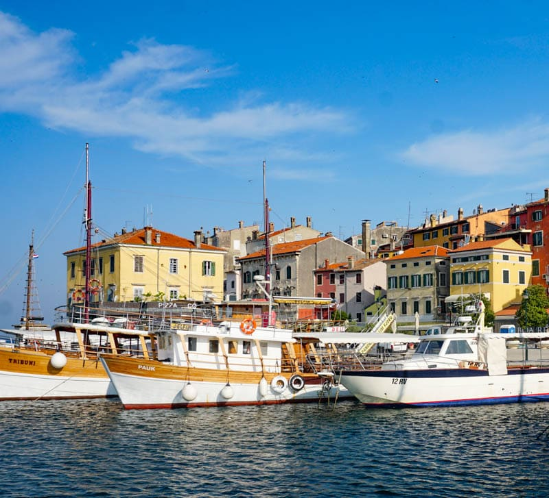 A view from the waterfront in Rovinj Croatia