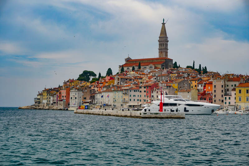 A view of Rovinj in Croatia, from a boat tour