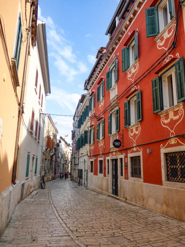 Street in Rovinj Croatia