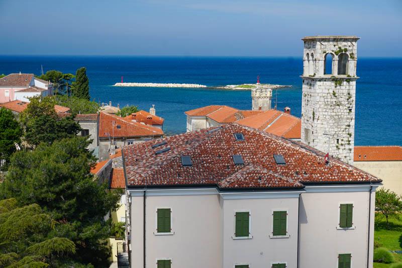 A view from the Euphrasian Basilica complex in Porec Croatia