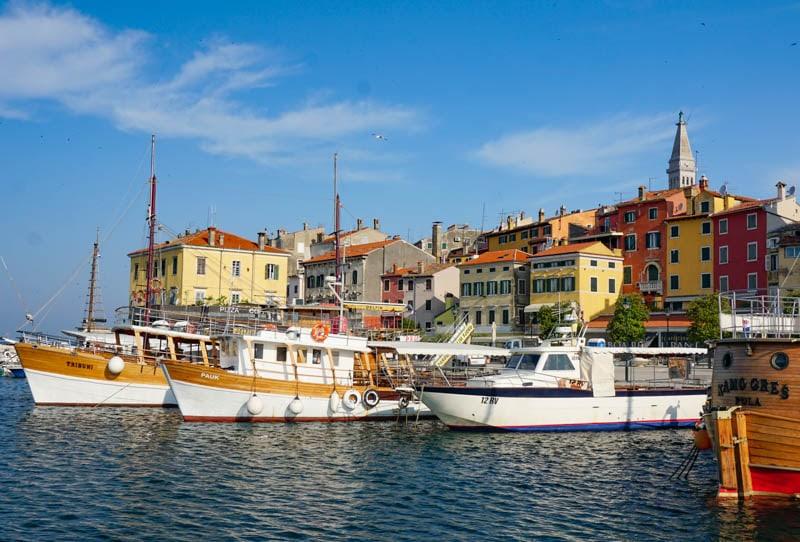 Waterfront in Rovinj Croatia