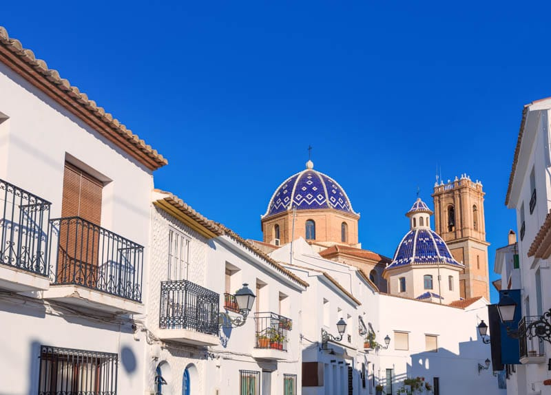 Altea Old Town on the Costa Blanca in Spain