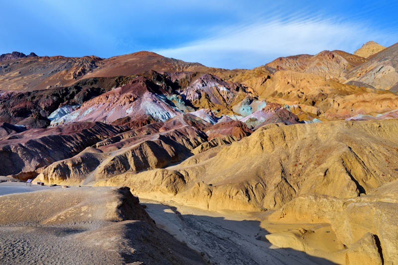 The Artist's Palette Viewpoint at Death Valley National Park in California