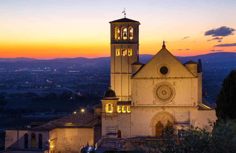 Basilica of Saint Francis in Assisi Italy