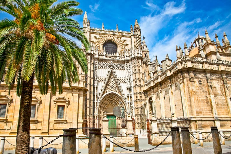 The Seville Cathedral in Andalusia, Spain