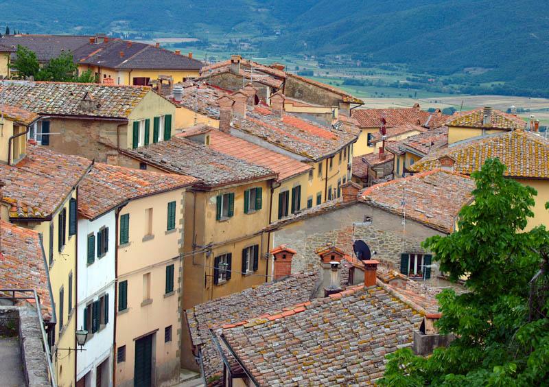 Cortona in Tuscany, Italy