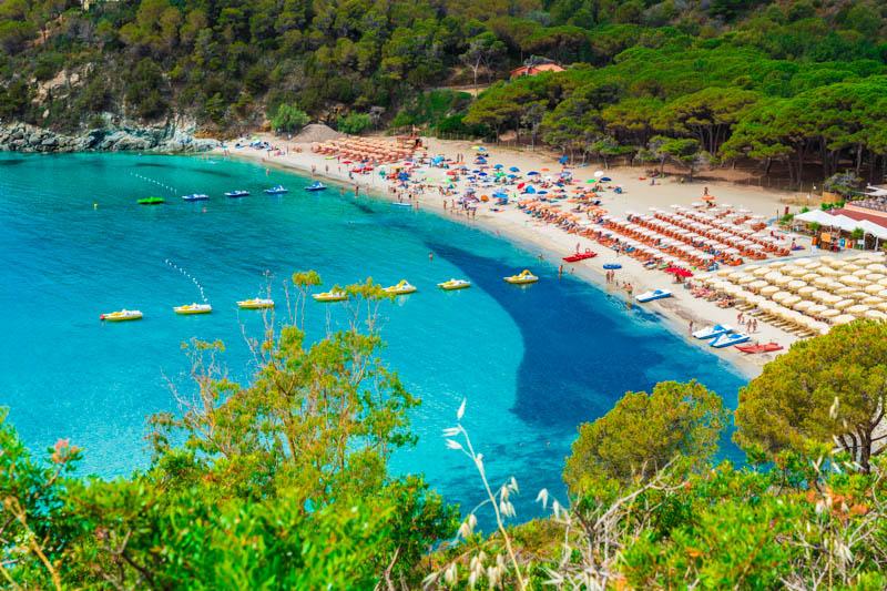 Fetovaia Beach Elba Island Tuscany Italy