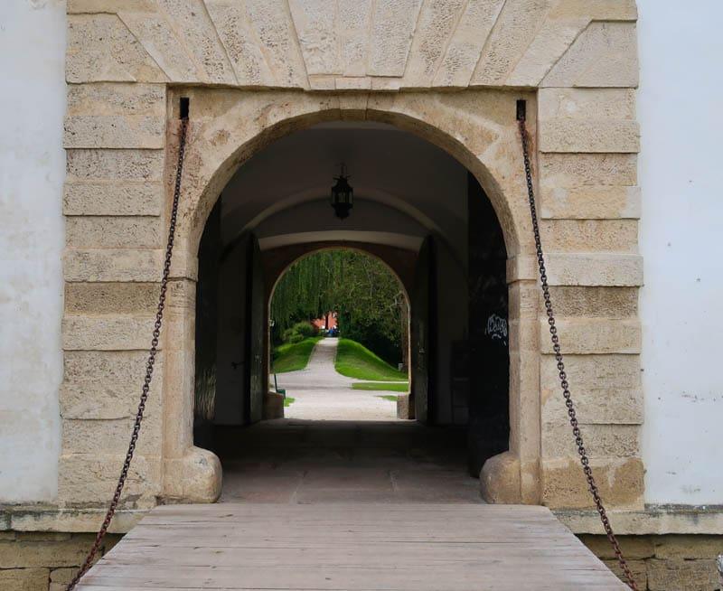 Entrance to the castle in Varazdin Croatia