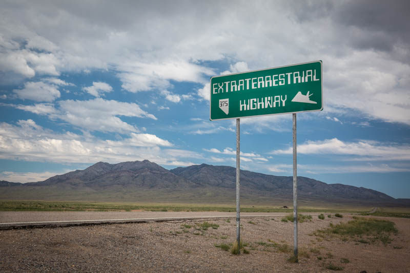 Extraterrestrial Highway, Nevada, features beautiful desert scenery.