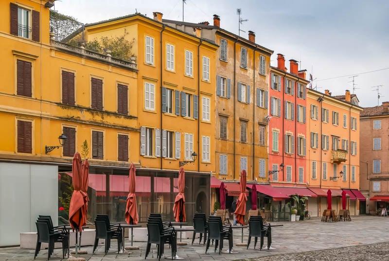 Facades in Modena Italy