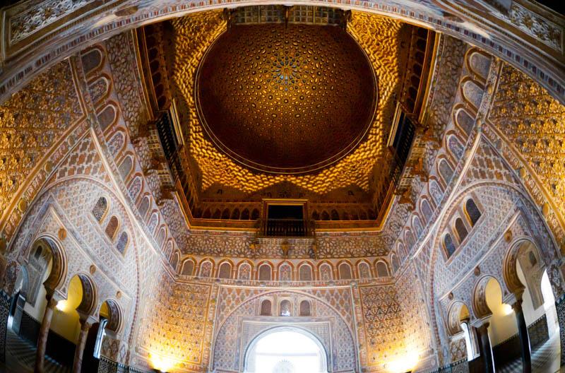 The Hall of the Ambassadors Royal Alcazar of Seville Spain