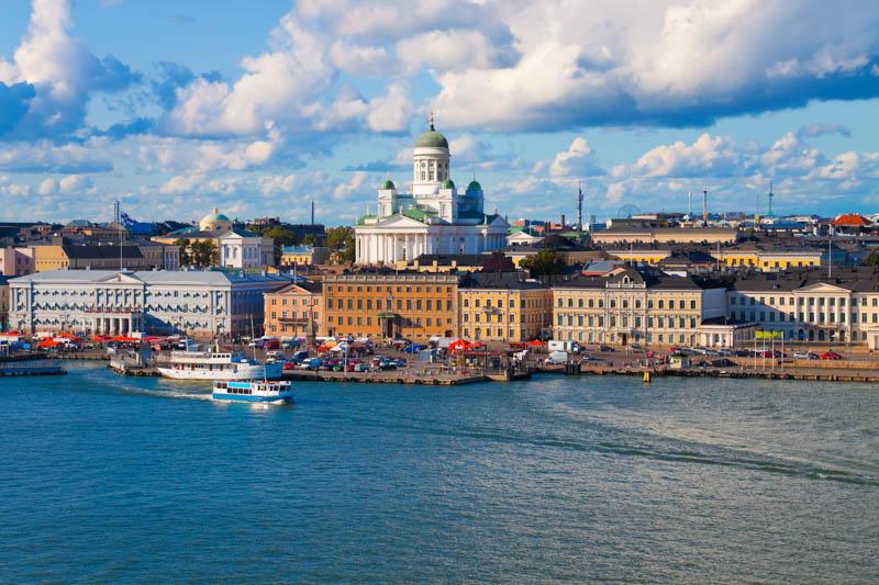 Helsinki Cathedral and Shoreline, Helsinki, Finland
