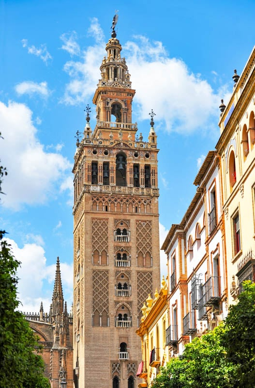 La Giralda, the bell tower of the Seville Cathedral in Spain