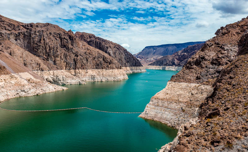 Lake Mead at Hoover Dam in Nevada