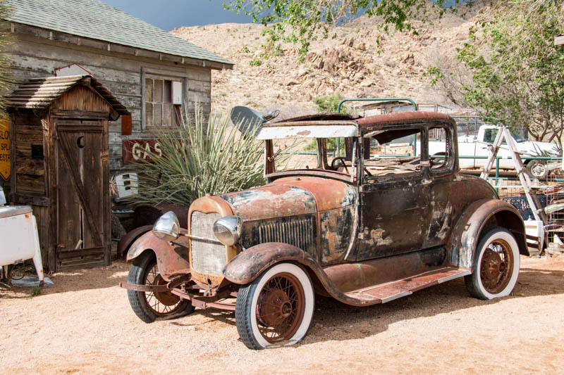 Old automobile along Route 66 in Hackberry, Arizona