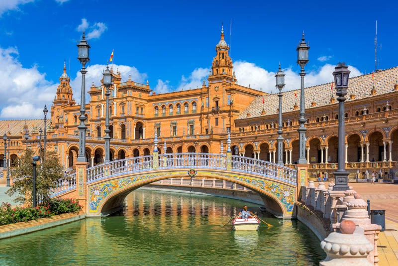Plaza of Spain in Seville Andalusia
