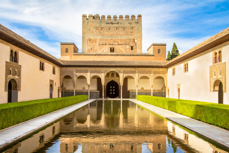 The Reflecting Pool at the Alhambra of Granada in Spain