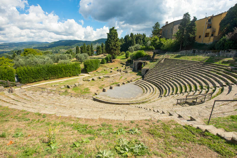 The Roman Theater in Fiesole, Italy, is a must-visit on a day trip from Florence!