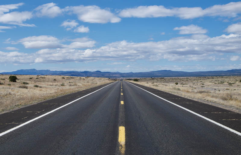 Route 66 West of Seligman in Arizona