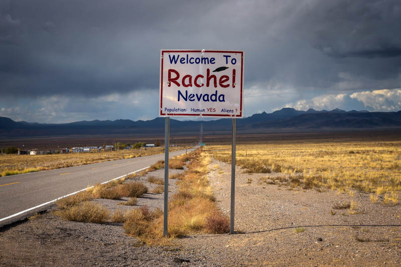 Sign for Rachel, Nevada
