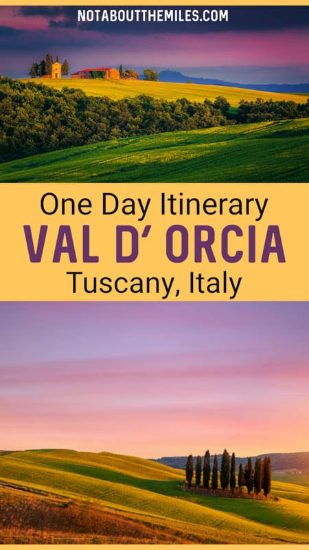 Discover the perfect one day itinerary for the scenic drive through the Val d'Orcia in Tuscany, Italy!