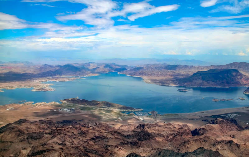View of Lake Mead in Nevada