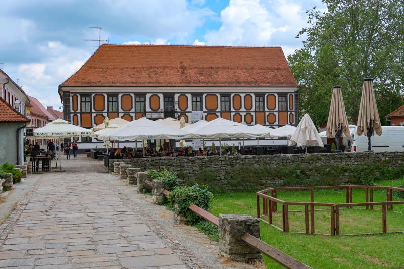 View of Milijenko Stancic Square in Varazdin Croatia