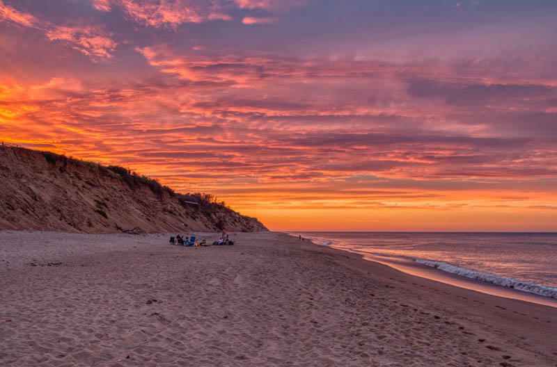 Sunset at Cape Cod National Seashore in massachusetts