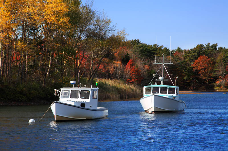 Picturesque harbor in Kennebunkport, Maine