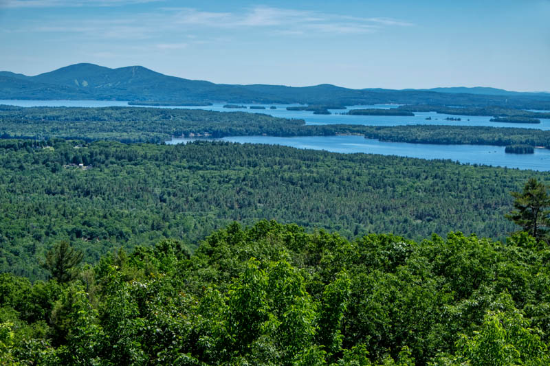A view of Lake Winnipesaukee in New Hampshire