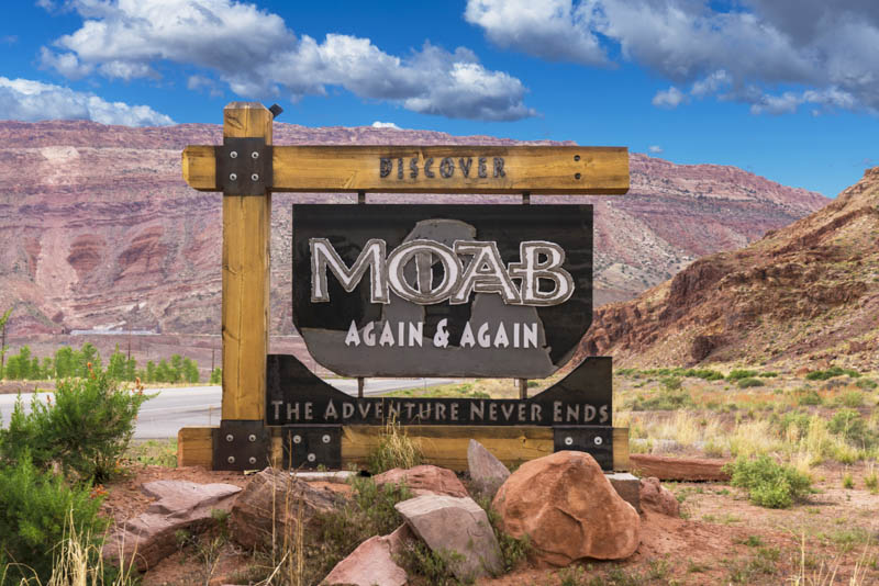 Welcome Sign for Moab, Utah