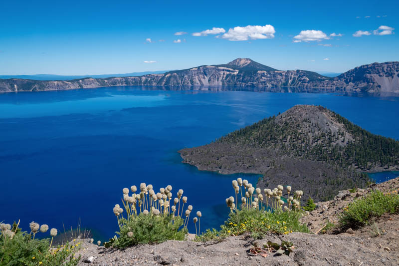 Crater Lake from the Rim Road in Crater Lake NP Oregon