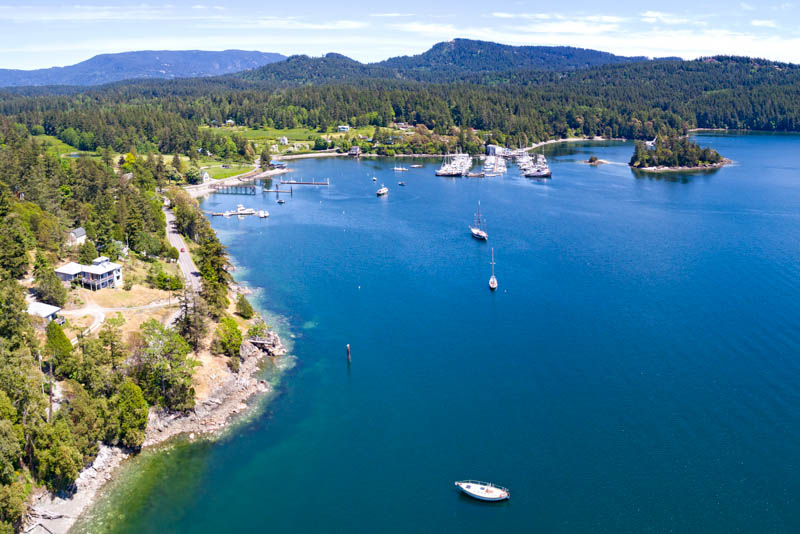 Aerial View of Orcas Island in Washington