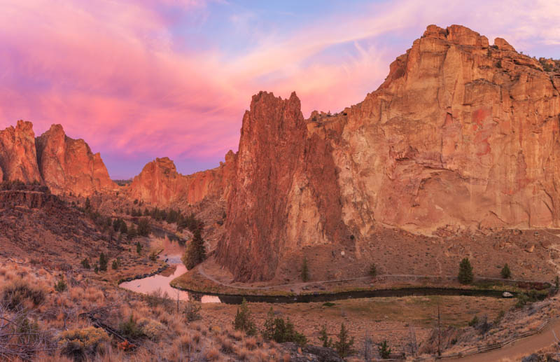 Smith Rock State Park in Oregon features beautiful landscapes
