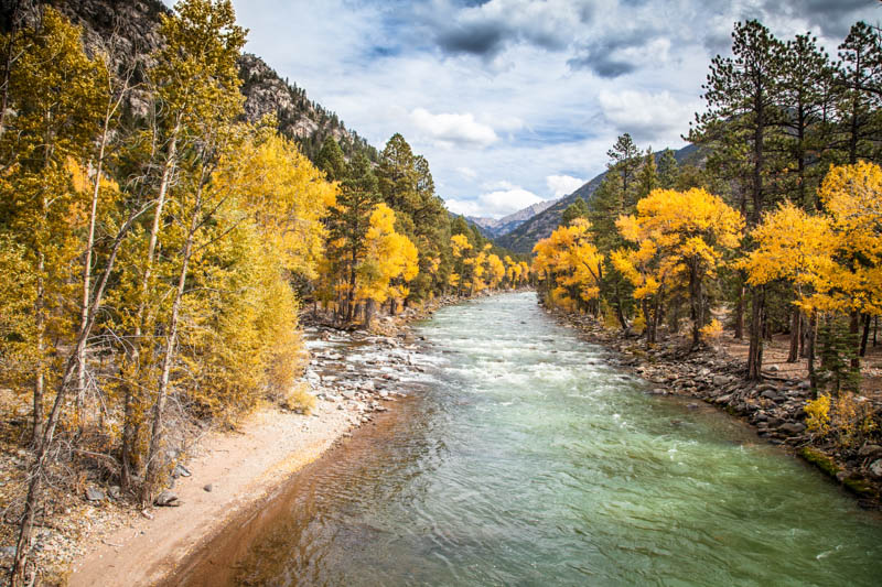 The Animas River in Durango Colorado