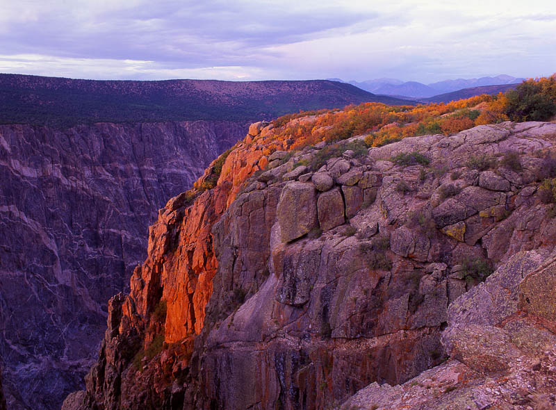 Beautiful landscape in Black Canyon of the Gunnison NP in Colorado